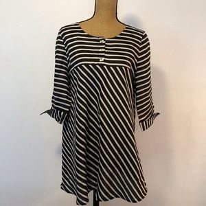 IC by Connie K tunic Top 100% ramie. made in USA
